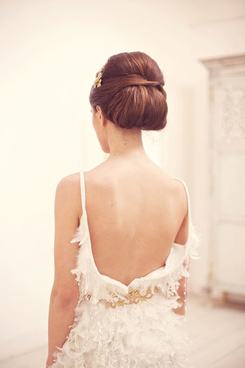 Sleek low bun hair